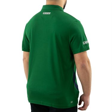 Lacoste SPORT Paneled Breathable Pique Polo - Green