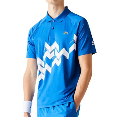 Lacoste SPORT x Novak Djokovic Breathable Polo - Marina/White