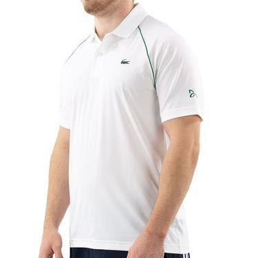 Lacoste Novak Djokovic Semi Fancy Polo Shirt Mens White/Yucca DH4743 EMA