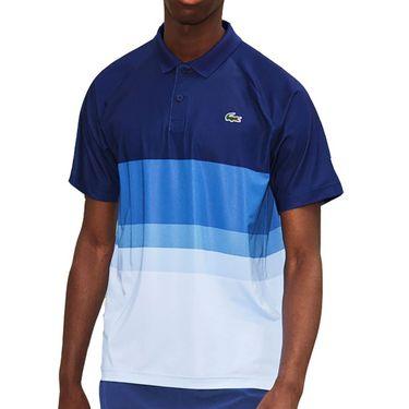Lacoste Novak Ombre Colorblocked Polo Shirt Mens Cosmic/Ultramarine/Ibiza Blue DH6959 1JZ