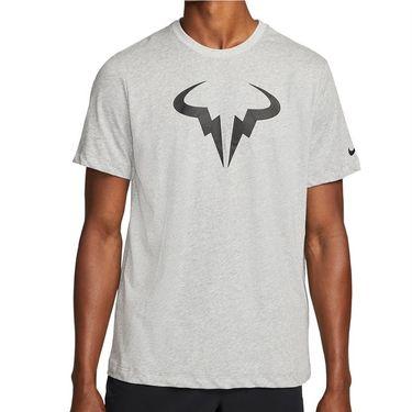 Nike Court Dri Fit Rafa Tee Shirt Mens Dark Grey Heather/Black DJ2582 063