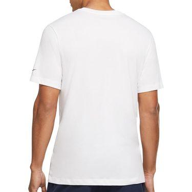 Nike Court Dri Fit Rafa Tee Shirt Mens White/Binary Blue/University Red DJ2582 100