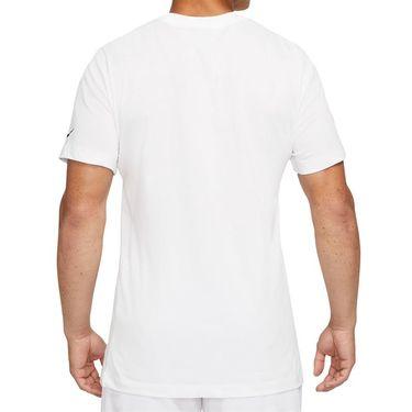 Nike Court Dri Fit Rafa Tee Shirt Mens White/Black DJ2582 101