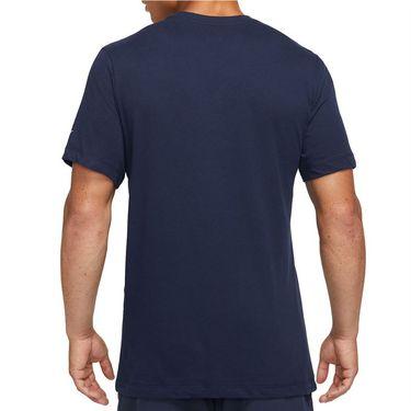 Nike Court Dri Fit Rafa Tee Shirt Mens Obsidian/White DJ2582 451