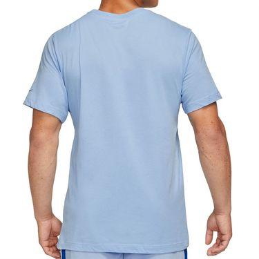 Nike Court Dri Fit Rafa Tee Shirt Mens Aluminum/Lime Ice/Hyper Royal DJ2582 468