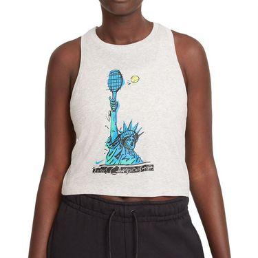 Nike Court Dri Fit Tank Womens Grey Heather DJ2589 050