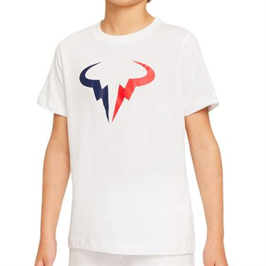 Nike Court Boys Dri Fit Rafa Tee Shirt White DJ2591 100