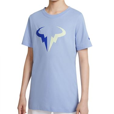 Nike Court Boys Dri Fit Rafa Tee Shirt Aluminum DJ2591 468