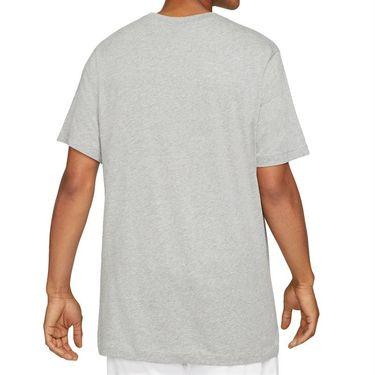 Nike Court Tee Shirt Mens Dark Heather Grey DJ2594 063