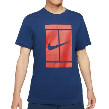 Nike Court Tee Shirt Mens Binary Blue DJ2594 429