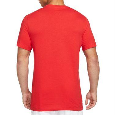 Nike Court Tee Shirt Mens University Red DJ2594 657