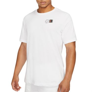 Nike Court Dri Fit Tee Shirt Mens White DJ2596 100