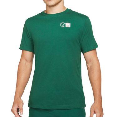 Nike Court Dri Fit Tee Shirt Mens Gorge Green DJ2596 341