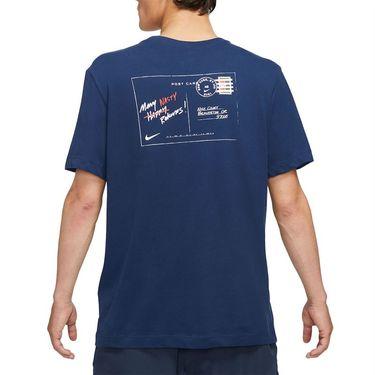 Nike Court Dri Fit Tee Shirt Mens Binary Blue DJ2596 429