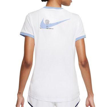 Nike Court Dri Fit Tee Shirt Womens White/Aluminum DJ2781 101