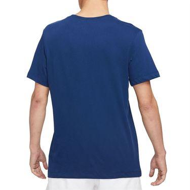 Nike Court Dri Fit Tee Shirt Mens Binary Blue DJ2783 429