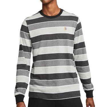 Nike Court Long Sleeve Crew Shirt Mens Black DJ2807 010