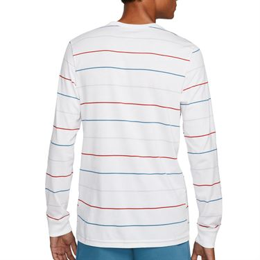 Nike Court Long Sleeve Crew Shirt Mens White DJ2807 100