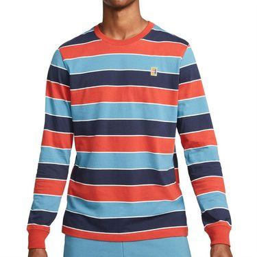 Nike Court Long Sleeve Crew Shirt Mens Cinnabar DJ2807 671