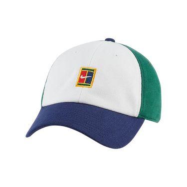 Nike Court Heritage 86 Hat - White/Binary Blue/Gorge Green