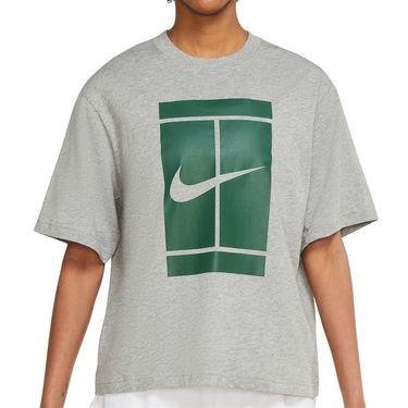Nike Court Tee Shirt Womens Dark Grey Heather DJ6241 063