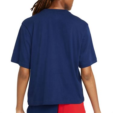 Nike Court Tee Shirt Womens Binary Blue DJ6241 429