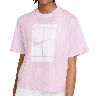 Nike Court Tee Shirt Womens Regal Pink DJ6241 695