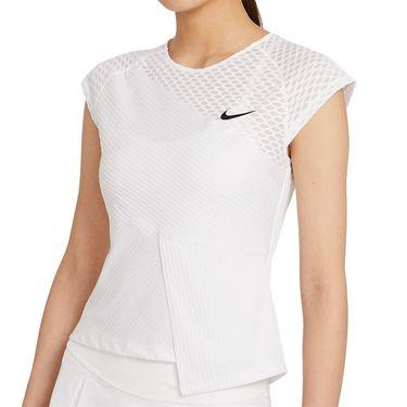 Nike Court Dri Fit Advantage Slam Top Womens White/Black DJ6567 100