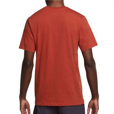 Nike Court Tee Shirt Mens Cinnabar DM8424 671