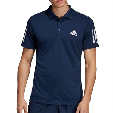 adidas Club 3 Stripe Polo - Collegiate Navy/White