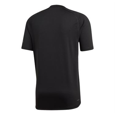 adidas Logo Tee Shirt Mens Black DU0902