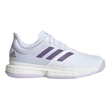 adidas Sole Court Womens Tennis Shoe White/Tech Purple/Legacy Purple EF2464