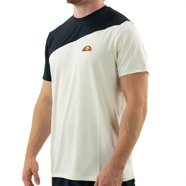 Ellesse Carrito Pro Crew Neck Shirt Mens Off White EM11246 OWT