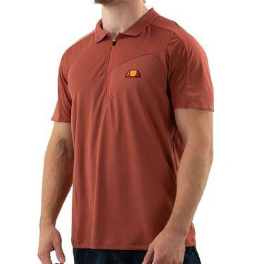 Ellesse Sicoli Pro Polo Shirt Mens Dark Red EM11248 DRD
