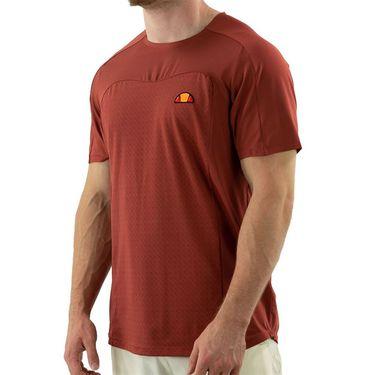 Ellesse Vanetti Pro Crew Neck Shirt Mens Dark Red EM11254 DRD