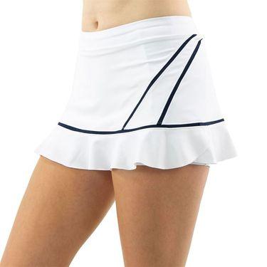Inphorm Retro Classic Angelika Bottom Ruffle Skirt Womens White/Midnight F20012 0169û