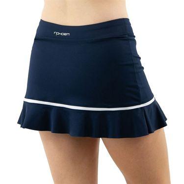 Inphorm Retro Classic Angelika Bottom Ruffle Skirt Womens Midnight/White F20012 0173