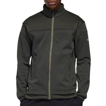adidas Knit Full Zip Jacket Mens Legend Earth FS3785