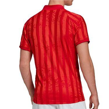 adidas Freelift Engineered Tee Shirt Mens Scarlet/White FT5812