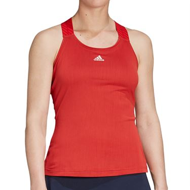 adidas Tennis Y-Tank Womens Legacy Red/Haze Coral FT6353