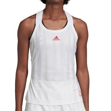 adidas Tennis Y-Tank Engineered Womens White/Scarlet FT6402