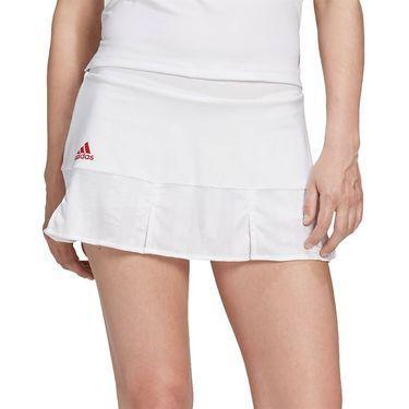 adidas Tennis Match Skirt Engineered Womens White FT6406