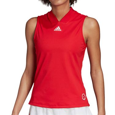 adidas Tennis Match Tank Engineered Womens Scarlet/Signal Pink FT6409