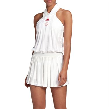 adidas All In One Dress Womens White/Scarlet FT6410