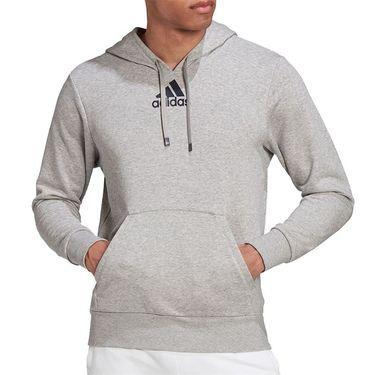 adidas Tennis Category Graphic Hoodie Mens Grey Heather/Legend Ink FU0073