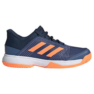 adidas Adizero Club Junior Tennis Shoe Crew Blue/Screaming Orange/Crew Navy FX1482