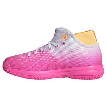adidas Phenom Junior Tennis Shoe Screaming Pink/Acid Orange/White FX1487