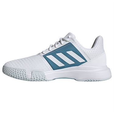 adidas CourtJam Bounce Mens Tennis Shoe White/Hazy Blue FX1492