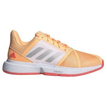 adidas CourtJam Bounce Womens Tennis Shoe Acid Orange/Silver/Hazy Rose FX1523