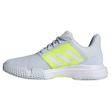 adidas CourtJam Bounce Womens Tennis Shoe Halo Blue/White/Solar Yellow FX1524